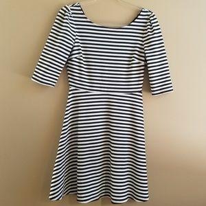 Pixley Black White Stripe Kathy Dress, Medium